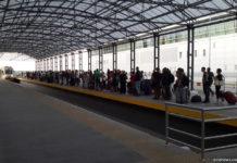"""Очередь на поезд """"Киев Борисполь Экспресс"""""""