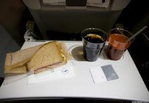 Бортовое питание в эконом-классе на рейсе Франкфурт-Киев Lufthansa