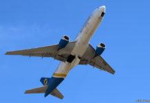 Взлет Boeing 777-200ER МАУ