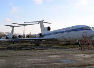Списанные самолеты Ту-154 и Ту-134 в аэропорту Борисполь