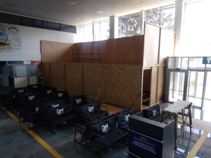 Монтаж конструкций магазина Duty Free в аэропорту Полтава