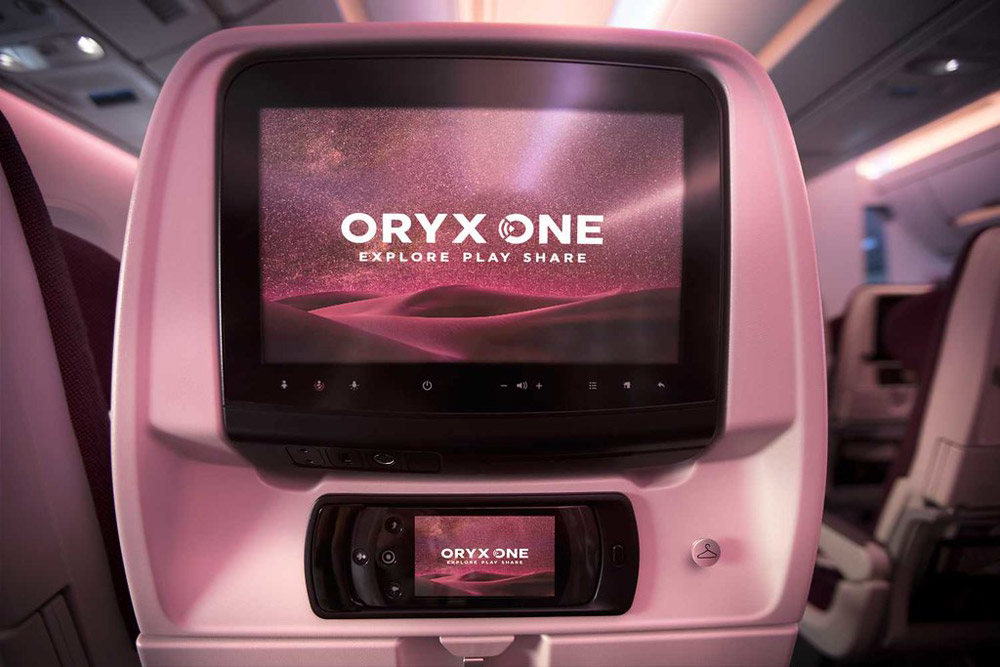 Экран системы развлечений Oryx One