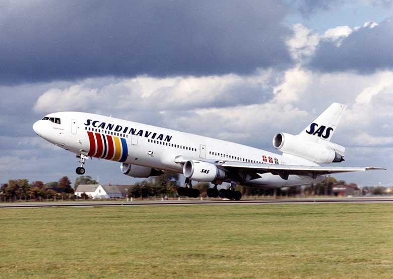 DC-10 SAS в ливрее 1983 года