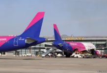 Самолеты Wizz Air в аэропорту Киева