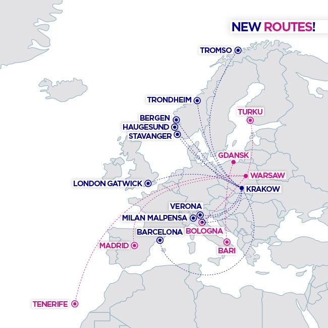 Расширение маршрутной сети Wizz Air в Польше в летнем расписании 2020 года
