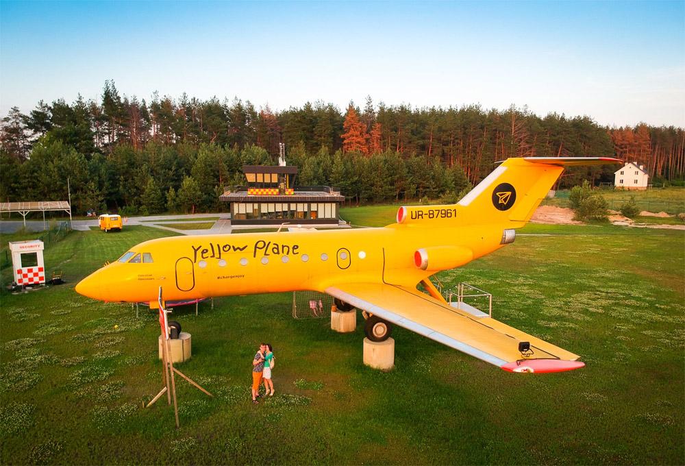 Як-40 в ресторанно-развлекательном комплексе Yellow Plane под Киевом