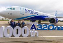 1000-й поставленный самолет семейства A320neo - A321neo для лоу-коста IndiGo