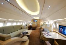 Бизнес-джет Airbus ACJ319 оператора бизнес-авиации Comlux