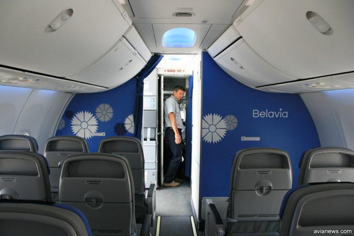Салон самолета Boeing 737-800