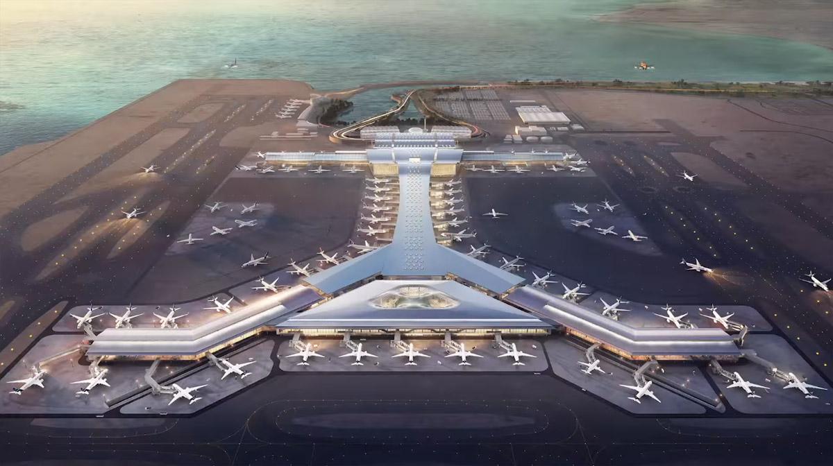 Вид на терминал в аэропорту Хамад в Дохе после расширения