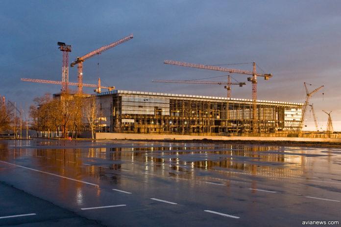 Строительство нового терминала в аэропорту Донецка, 2011 год