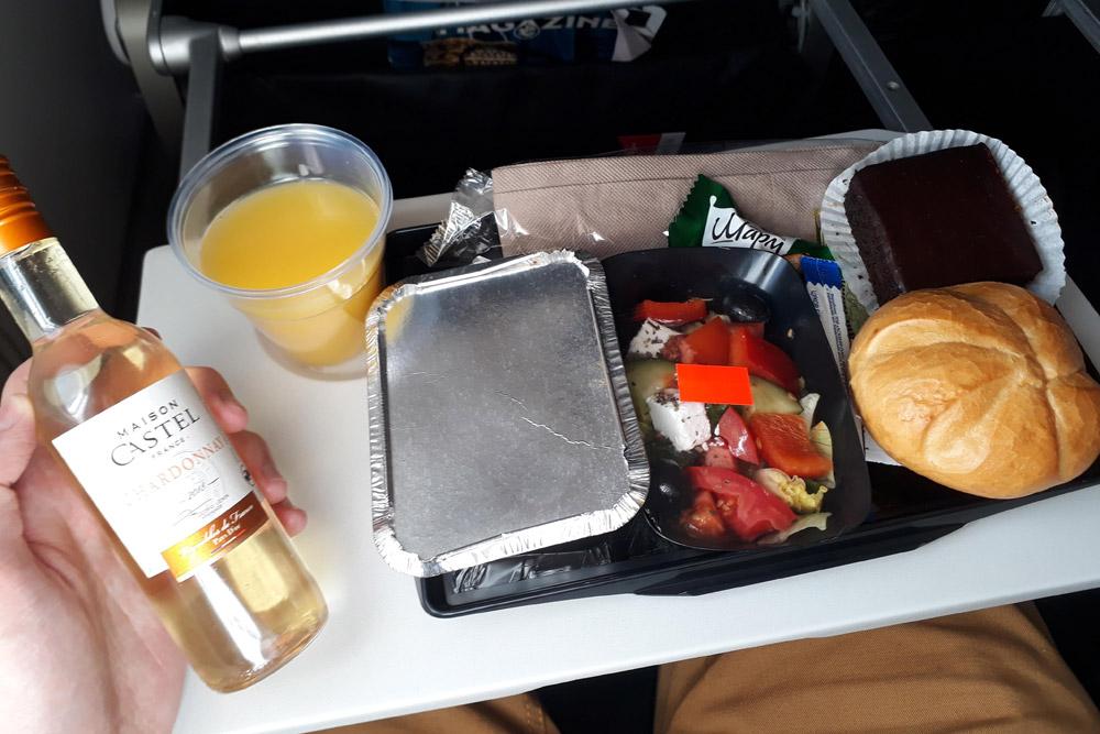 Питание Air France в эконом-классе на рейсе Киев-Париж