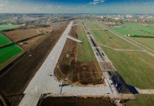 Строительство рулежной дорожки РД-А5 в аэропорту Одесса, которая соединяет старую и новую полосы