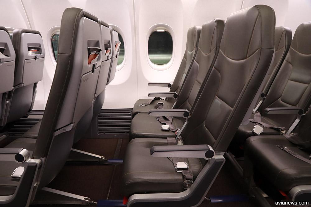 Кресла в Boeing 737-800 SkyUp