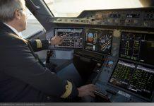 Сенсорные экраны в кабине пилотов Airbus A350