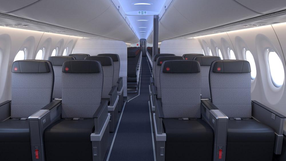 Бизнес-класс в A220-300 Air Canada