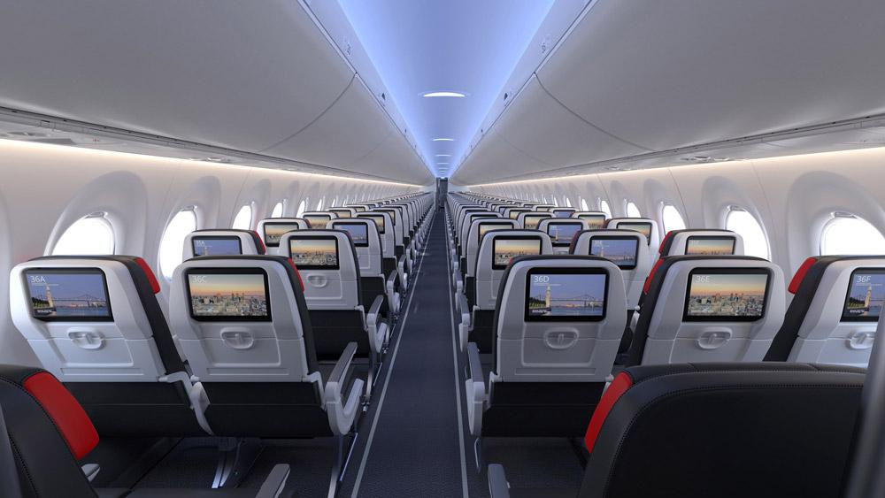 Эконом-класс в A220-300 Air Canada