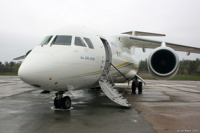 Первый серийный Ан-148, произведенный в Киеве