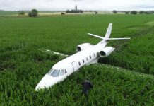 Cessna 560XLS Citation ExcelLV-FQD сел на кукурузное поле