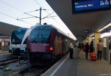 Поезд Railjet австрийских федеральных железных дорог OBB