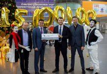 Поздравление 15-миллионного пассажира аэропорта Борисполь в 2019 году