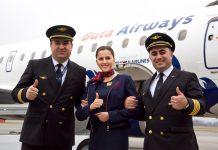 Экипаж первого рейса Buta Airways Баку-Львов