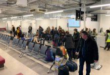 Пассажиры рейса Ryanair Берлин-Киев, которые не смогли вылететь в Украину