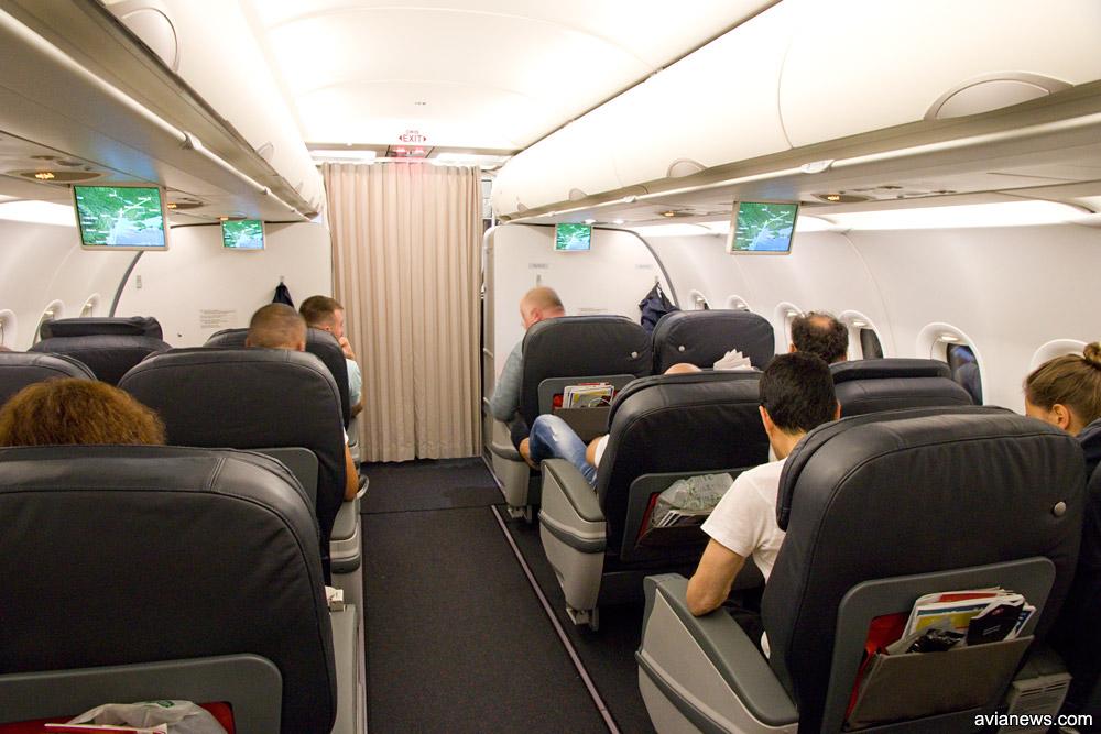 Кресла бизнес-класса в узкофюзеляжных самолетах Turkish Airlines с полноценным бизнес-классом