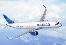 Airbus A321XLR в ливрее United Airlines