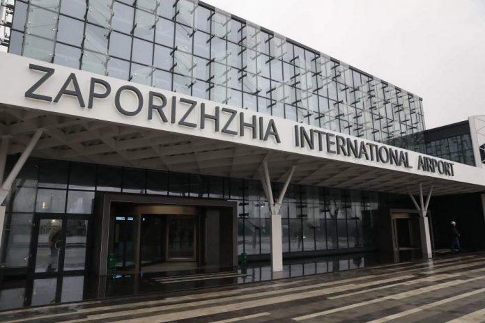 Фасад нового терминала в аэропорту Запорожье