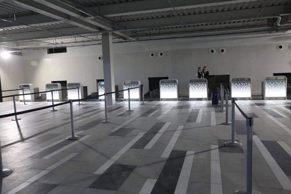Зал регистрации в новом терминале в аэропорту Запорожье