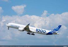 Взлет Airbus A350-1000