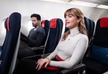 Пассажиры в салоне самолета Air France