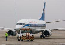"Буксировка Boeing 737 ""Белавиа"""