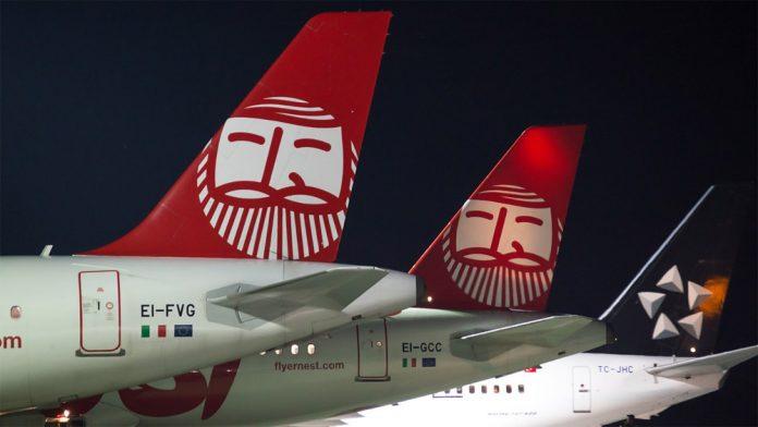 Хвосты самолетов Ernest Airlines