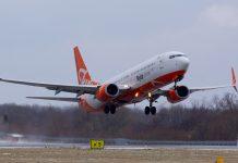 Взлет Boeing 737-800 SkyUp