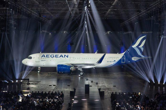 Airbus A320neo Aegean Airlines в новой ливрее