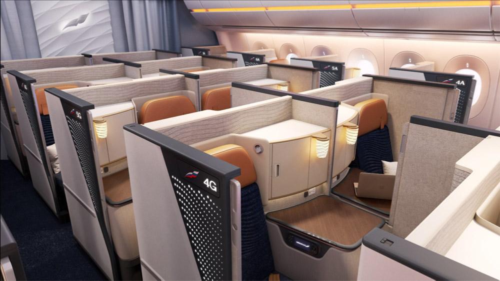 """Новый бизнес-класс с перегородками в Airbus A350-900 """"Аэрофлота"""""""
