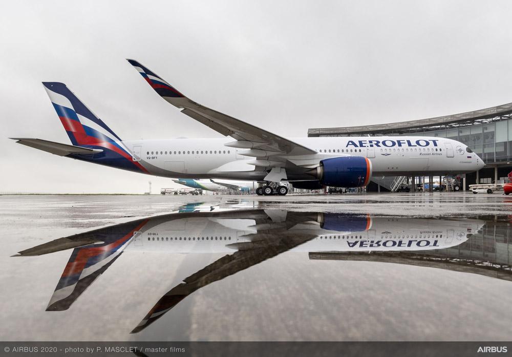 """Airbus A350-900 """"Аэрофлота"""" в новой ливрее"""