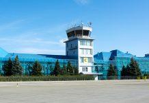 Диспетчерская вышка в аэропорту Львов