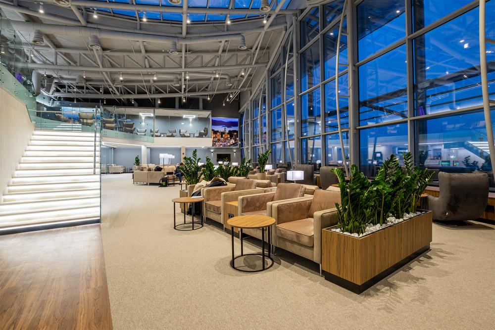 Первый уровень бизнес-зала Atmosfera Fly в аэропорту Борисполь, терминал D