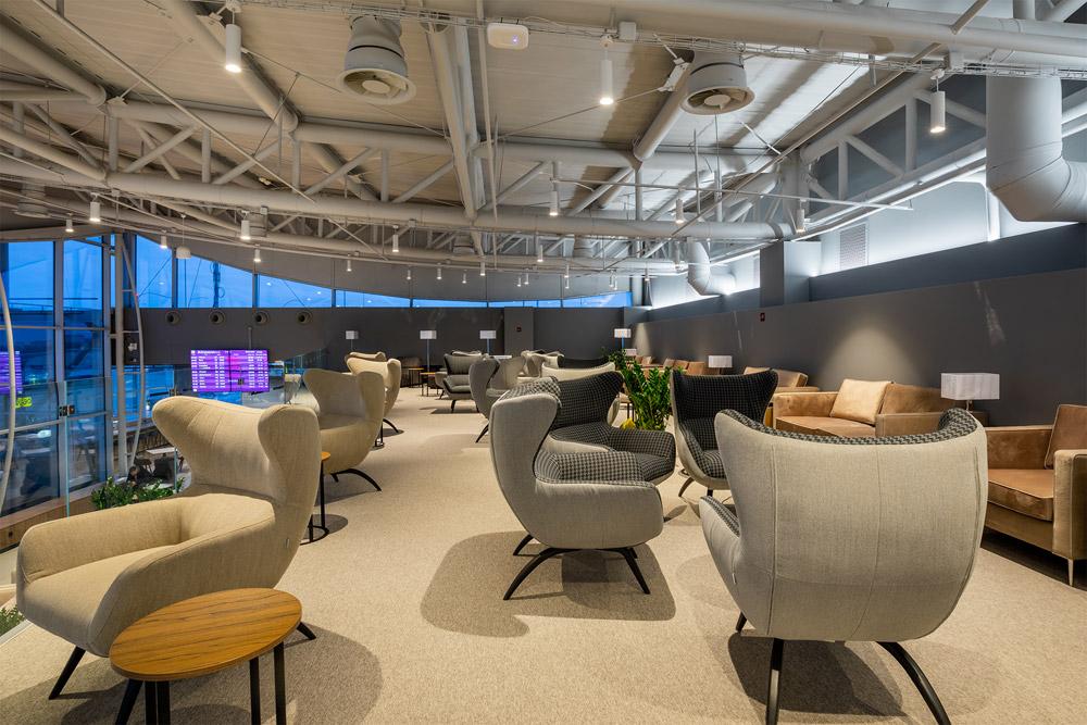 Второй уровень бизнес-зала Atmosfera Fly в аэропорту Борисполь, терминал D