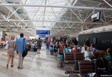 Зал вылета, терминал F в аэропорту Борисполь