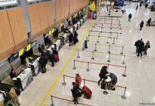 Зона регистрации в терминале в аэропорту Харьков