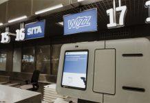 Стойки самостоятельной сдачи багажа в аэропорту Кракова