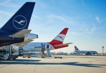 Самолеты Lufthansa, Austrian Airlines и Swiss