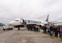 Посадка в самолет Ryanair