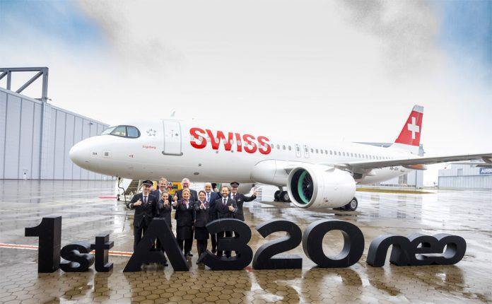 Первый Airbus A320neo Swiss International Air Lines