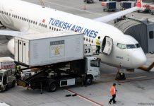 Машина кейтеринговой компании Turkish Co & Do у самолета Turkish Airlines