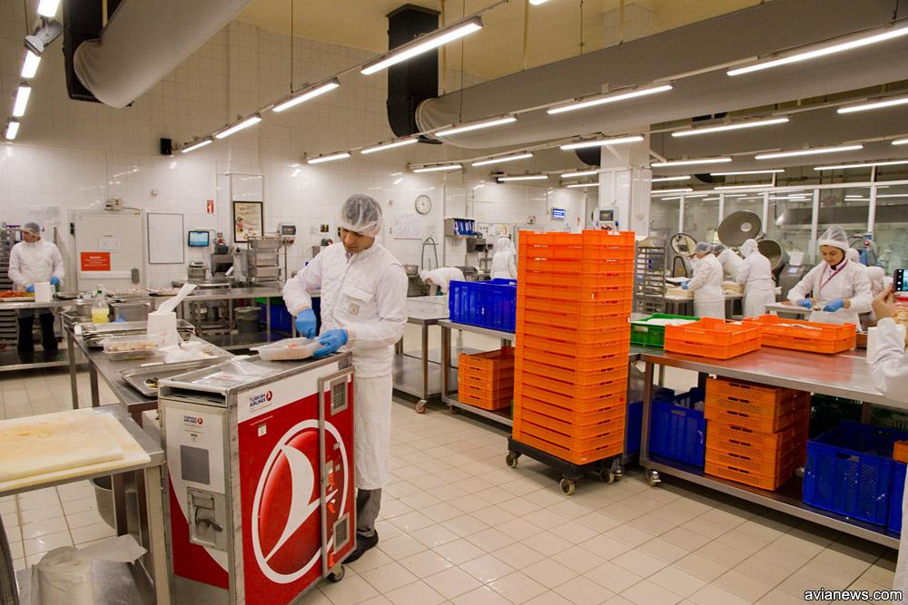 Процесс комплектации тележек бортового питания
